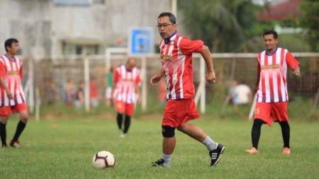 Eks pelatih Arema FC, Aji Santoso, saat berlaga bersama PS Gajayana. - INDOSPORT