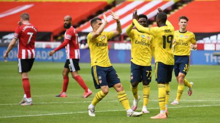 Hasil pertandingan Piala FA Sheffield United vs Arsenal, The Gunners sukses amankan tiket ke semifinal. - INDOSPORT