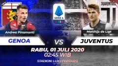 Indosport - Berikut ini link live streaming pertandingan Genoa vs Juventus dalam ajang lanjutan Liga Italia 2019-20, Rabu (01/07/20) dini hari WIB.