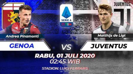 Berikut ini link live streaming pertandingan Genoa vs Juventus dalam ajang lanjutan Liga Italia 2019-20, Rabu (01/07/20) dini hari WIB. - INDOSPORT