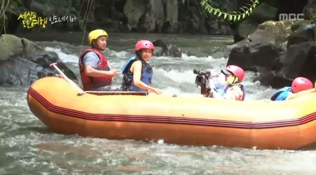 Aktris Korea Selatan, Cho Yeo Jeong, yang membintangi film Parasite pernah rafting di Bali Copyright: Youtube MBC Documentary