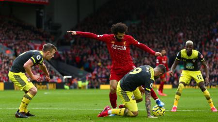 Duel Mohamed Salah vs Danny Ings di laga Liverpool vs Southampton - INDOSPORT