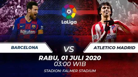 Pertandingan Barcelona vs Atletico Madrid dalam pentas LaLiga Spanyol 2019-20 dapat ditonton melalui link live streaming di bawah ini, Rabu (01/07/20). - INDOSPORT