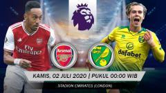 Indosport - Pertandingan Arsenal vs Norwich City (Liga Primer).