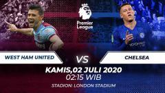 Indosport - Chelsea akan menghadapi West Ham United pada pekan ke-32 Liga Inggris 2019-2020, Kamis (02/07/20), berikut prediksi lengkap pertandingannya.