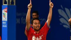 Indosport - Rehan Naufal Kusharjanto, putra legenda bulutangkis Tri Kusharjanto.