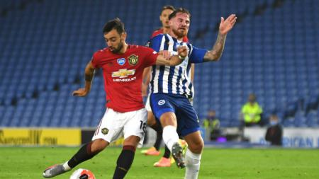 Bruno Fernandes menjadi bintang di laga Brighton vs Manchester United - INDOSPORT