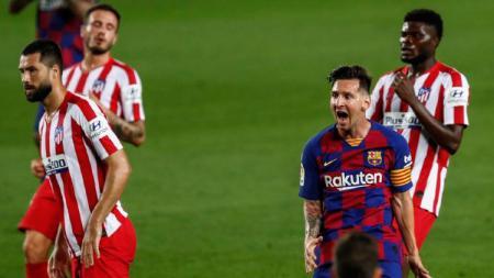 Lionel Messi sukses pecahkan rekor 700 gol yang membuatnya setara dengan Cristiano Ronaldo dan para pemain legendaris lain. - INDOSPORT
