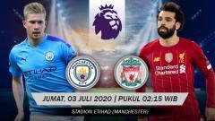 Indosport - Berikut link live streaming big match antara Manchester City vs Liverpool pada pekan ke-32 Liga Inggris 2019-2020, Jumat (03/07/20) pukul 02.15 dini hari WIB.