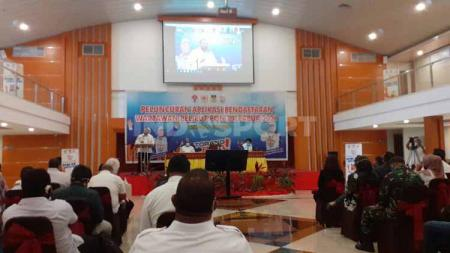 Suasana launching portal pendaftaran wartawan PON XX Papua. - INDOSPORT