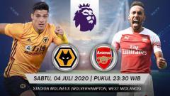 Indosport - Berikut prediksi pertandingan Liga Inggris Wolverhampton Wanderers vs Arsenal, Sabtu (04/07/20) esok.