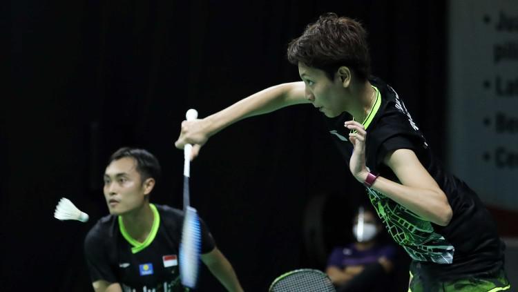 Hafiz Faizal/Gloria Emanuelle Widjaja di Mola TV PBSI Home Tournament. Copyright: Badminton Indonesia