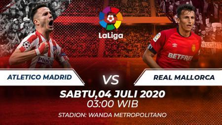 Pertandingan Atletico Madrid vs Real Mallorca dalam pentas LaLiga Spanyol 2019-20, Sabtu (04/07/20) dini hari WIB, dapat disaksikan melalui link live streaming di bawah ini. - INDOSPORT