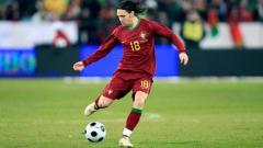 Indosport - Maniche saat memperkuat Timnas Portugal.