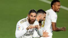 Indosport - Bertemu pembelot di laga Liga Champions anatara Real Madrid kontra Inter Milan, begini aksi kejam Sergio Ramos.