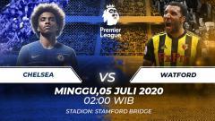 Indosport - Berikut prediksi pertandingan antara Chelsea vs Watford pada pekan ke-33 Liga Inggris, Minggu (05/07/20) dini hari WIB