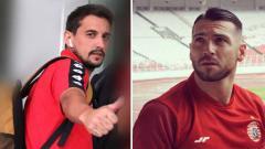 Indosport - Pemain asing PSIS Semarang, Flavio Beck Jr., berlatih bersama penggawa Persija Jakarta, Marko Simic, di saat kedua bintang Liga 1 2020 itu berada di Kroasia.