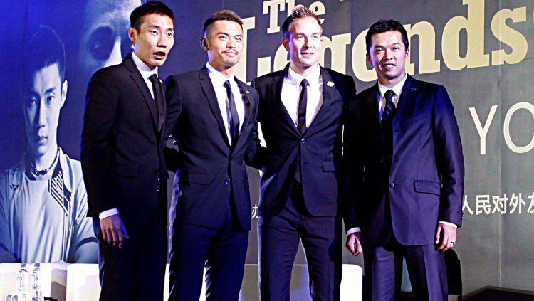 Lin Dan, Taufik Hidayat, Lee Chong Wei, dan Peter Gade. Copyright: Visual China Group via Getty Images/Visual China Group via Getty Images