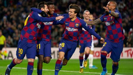 Berikut tersaji lima pemain bintang Barcelona yang berpotensi meninggalkan raksasa sepak bola LaLiga Spanyol tersebut di bursa transfer musim panas 2020. - INDOSPORT