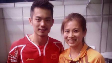 Lin Dan bersama dengan Goh Liu Ying. - INDOSPORT