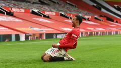 Indosport - Tampil apik bersama klub Liga Inggris, Manchester United, Mason Greenwood bikin Sir Alex Ferguson ingin 'kembali'.
