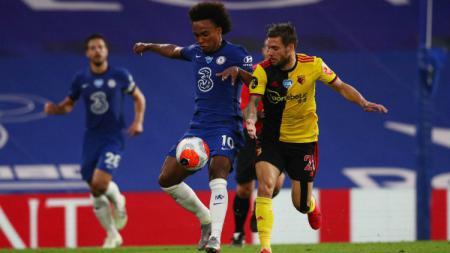 Berikut link live streaming pertandingan Liga Inggris pada pekan ke-34 antara Crystal Palace vs Chelsea. - INDOSPORT