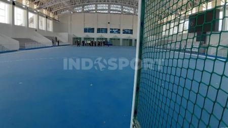 Salah satu venue PON XX Papua yang sudah rampung, Lapangan Hoki Indoor hanya tinggal menanti proses sertifikasi. - INDOSPORT