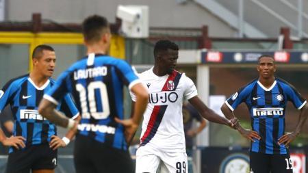 Inter Milan ditengarai melakukan tiga kesalahan fatal sehingga keok dari Bologna dalam lanjutan Serie A Italia 2019-2020. - INDOSPORT
