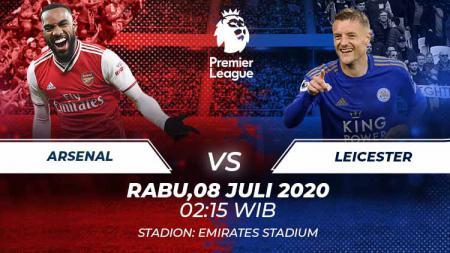 Pertandingan Liga Inggris antara Arsenal vs Leicester City yang akan digelar Rabu (08/07/20) dini hari WIB bisa disaksikan melalui link streaming berikut ini. - INDOSPORT