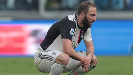 Bomber senior Juventus, Gonzalo Higuain, dikabarkan segera menyusul Blaise Matuidi merapat ke klub MLS, Inter Miami. - INDOSPORT