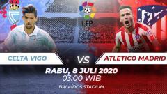Indosport - Berikut link live streaming pertandingan LaLiga Spanyol pada pekan ke-35 antara Celta Vigo vs Atletico Madrid.
