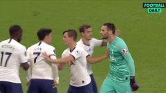 Indosport - Hugo Lloris bertengkar dengan Son Heung-min di laga pekan ke-33 Liga Inggris antara Tottenham vs Everton.