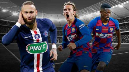PSG Ingin Barcelona Barter Neymar-Griezmann dan Dembele, Siapa Untung? - INDOSPORT