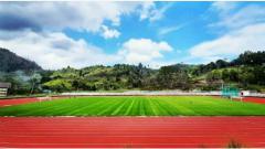 Indosport - Penampakan Lapangan Mahacandra Universitas Cenderawasih.