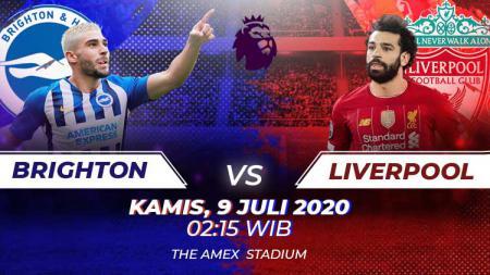 Berikut link live streaming Liga Inggris Brighton vs Liverpool, Kamis (09/07/20). - INDOSPORT