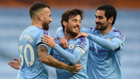 Klub kontestan Liga Inggris, Manchster City berhasil memecah kebuntuan setelah berhasil mengalahkan Newcastle United dengan skor telak, lima gol tanpa balas. - INDOSPORT