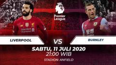Indosport - Berikut link live streaming pertandingan Liga Inggris pada pekan ke-35 yang mempertemukan Liverpool vs Burnley.