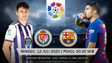 Berikut ini link live streaming pertandingan LaLiga Spanyol hari ini atau Minggu (12/07/20) pukul 00.30 WIB di Stadion Municipal José Zorrilla. - INDOSPORT