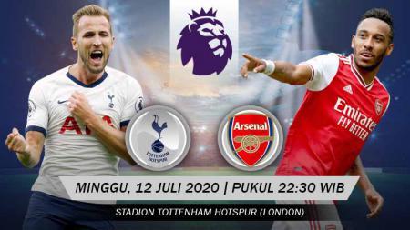 Berikut prediksi pertandingan Tottenham Hotspur vs Arsenal di ajang Liga Inggris pekan ke-35, Minggu (12/7/2020) pukul 22.30 WIB di Tottenham Hotspur Stadium. - INDOSPORT