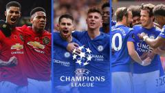 Indosport - Menakar Peluang Man United, Chelsea, Leicester Lolos ke Liga Champions.