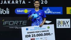 Indosport - Ini kata media Malaysia soal keberhasilan pebulutangkis Anthony Sinisuka Ginting menjuarai kejuaraan Mola TV PBSI Home Tournament, Jumat (10/07/20) di Pelatnas.