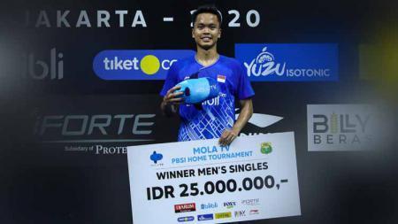 Media China merilis persentase pebulutangkis Indonesia, Anthony Sinisuka Ginting meraih medali emas pada Olimpiade Tokyo yang akan digelar tahun 2021 mendatang. - INDOSPORT