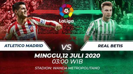 Berikut link live streaming pertandingan pekan ke-35 LaLiga Spanyol antara Atletico Madrid vs Real Betis, Minggu (12/07/20) dini hari WIB. - INDOSPORT