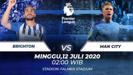 Berikut link live streaming pertandingan Liga Inggris pada pekan ke-35 antara Brighton & Hove Albion vs Manchester City. - INDOSPORT