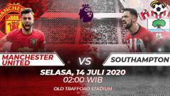 Indosport - Berikut ini link live streaming pertandingan Liga Inggris antara Manchester United vs Southampton, Selasa (14/07/20) pukul 02.00 WIB.
