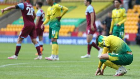 Norwich City saat terdegradasi dari Premier League Liga Inggris. - INDOSPORT