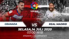 Indosport - Berikut prediksi pertandingan Granada vs Real Madrid yang akan tersaji di pekan ke-36 LaLiga Spanyol, Selasa (14/07/20).