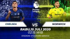 Indosport - Berikut ini link live streaming pertandingan Liga Inggris antara Chelsea vs Norwich City, Rabu (15/07/20) pukul 02.15 WIB.