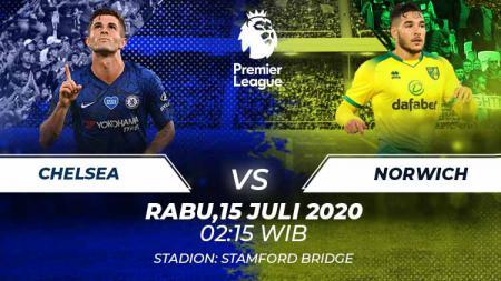 Berikut prediksi pertandingan Chelsea vs Norwich City di ajang Liga Inggris pekan ke-36, Rabu (15/7/2020) pukul 02.15 WIB di Stamford Bridge. - INDOSPORT