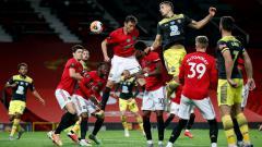 Indosport - Momen pertandingan Manchester United vs Southampton